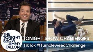 Tonight Show Challenges: TikTok #TumbleweedChallenge