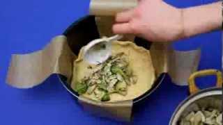 Рецепт приготовления лоранского пирога с куриной грудкой в мультиварке VITEK VT-4215 BW