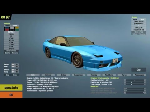 LFS - Drifting With Setup, Car mod and a Custom Layout