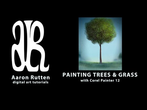 Digital Painting: How to Paint Trees (Corel Painter) 🌳🌳