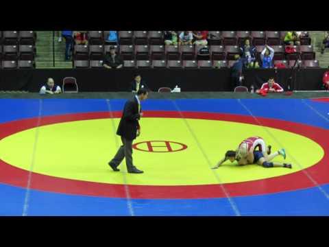 2014 Junior Pan-American Championships: 48 kg Annie Monteith (CAN) vs. Evelin Sosa (ARG)