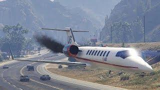 GTA 5 AMAZING AIRPLANE CRASHES AND LANDINGS COMPILATION!!!