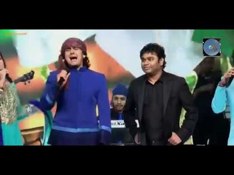 "Sonu Nigam Singing ""Jai Ho"" First Time With A. R. Rahman must watch everyone"
