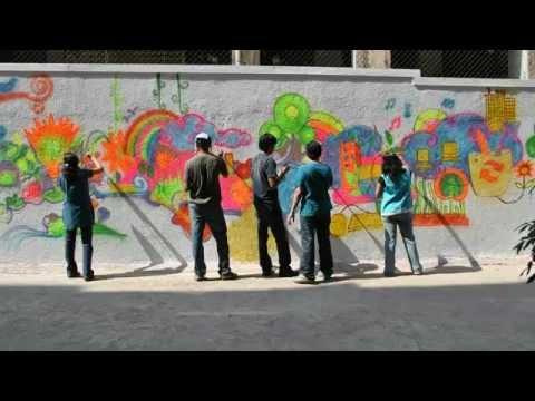Graffiti at Upside Learning, Pune
