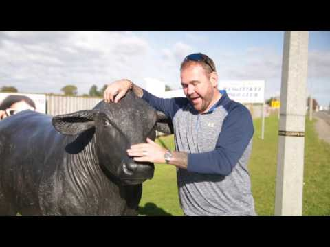 DAY 17 - Lions legend Scott Quinnell with his Sky Sports Rugby Fan Van