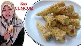 Cara Buat Horn Pastry or Kue Cumcum or Kue Terompet  yang Simple