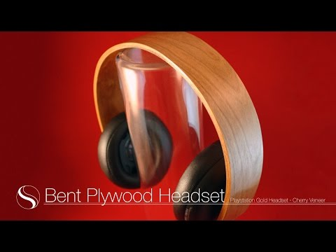 Bent Plywood Headset - Playstation Gold Headset Makeover