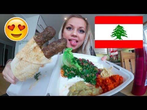 TESTAR LIBANESISK MAT (varning för grisig video)