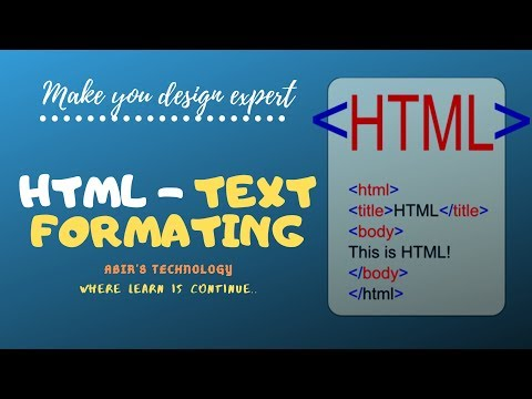 Html Tutorial For Beginners | Text Formatting In Html thumbnail