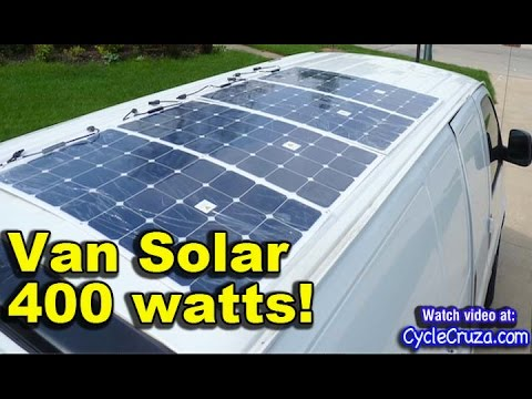 400 Watt Solar System Install In Bug Out Van Part 5