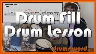 ★ Superstition (Stevie Wonder) ★ Drum Lesson | How To Play Drum Fill
