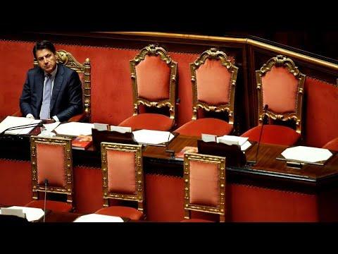 Itália em suspenso antes do discurso de Conte ao Senado