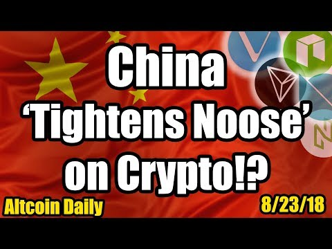 BREAKING: China Tightens the Noose on Crypto! Plus Live AMA w/ Ripple CEO [Cryptocurrency News]