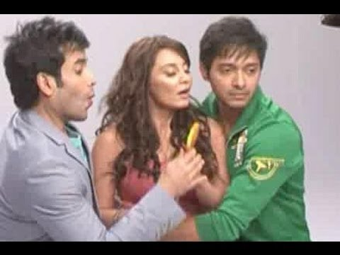 Tusshar Kapoor, Shreyas Talpade & Minissha Lamba shoot for a promotional song thumbnail