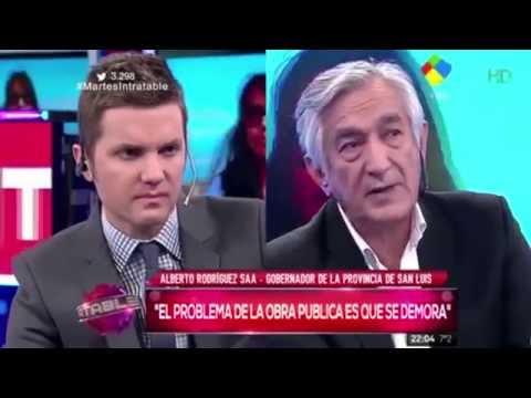 Alberto Rodríguez Saá en el programa Intratables