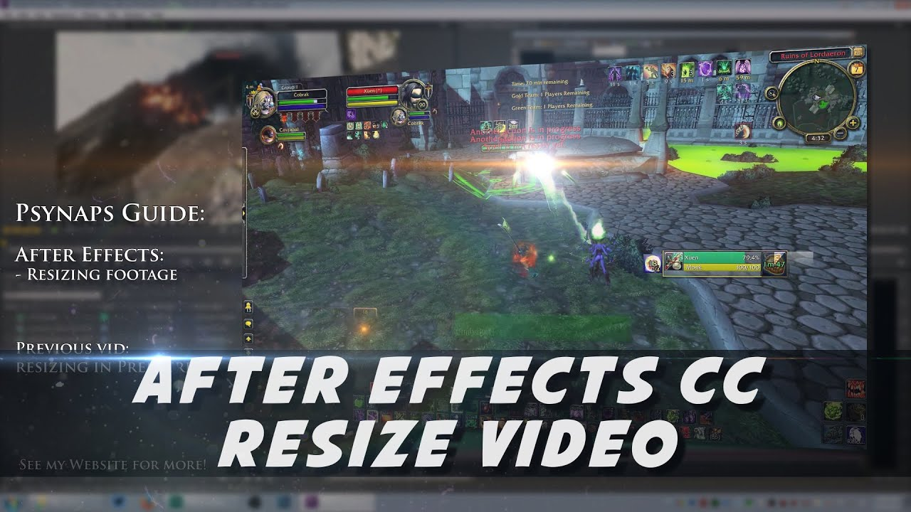After Effects - Resizing Video (Psynaps Tutorial) - YouTube