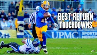 best kickpunt return touchdowns of the 2016 17 college football season part 2 ᴴᴰ