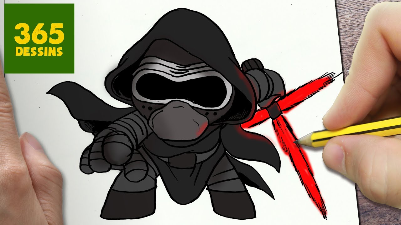 Comment Dessiner Kylo Ren Kawaii étape Par étape Dessins Kawaii Facile