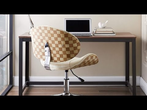 Volans Home Office Chair Modern Bentwood And Leather Upholstery Armless Swivel Desk Chair Review C Youtube