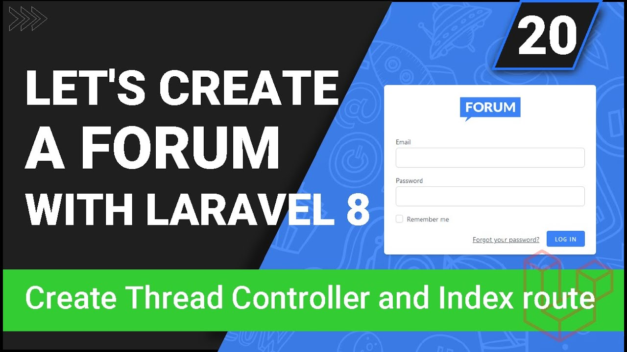 Create Thread Controller and index Route - Create a forum with Laravel 8 - Part 20