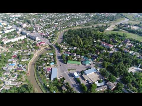 Полет по руслу реки Кума над городом Зеленокумском