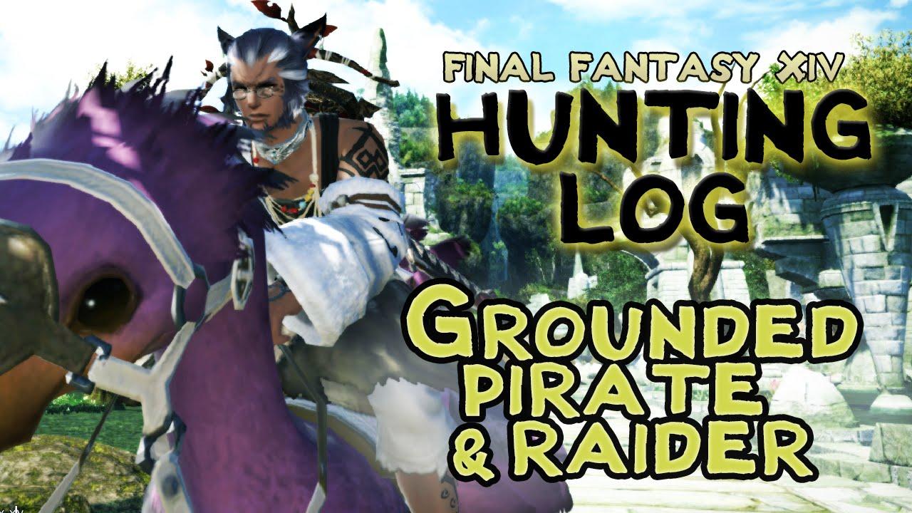 Ffxiv hunting log grounded pirate raider