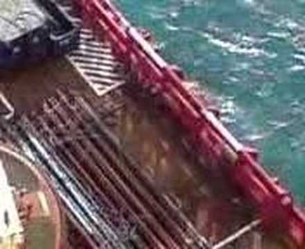 Offshore Oil Rig Crane Work
