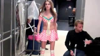 Cara Delevingne rollerskates at her Victoria's Secret fitting