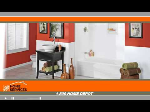 The Home Depot Home Services Bathroom Refacing YouTube - Home depot bathroom design services
