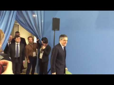 Arrivée Francois Fillon
