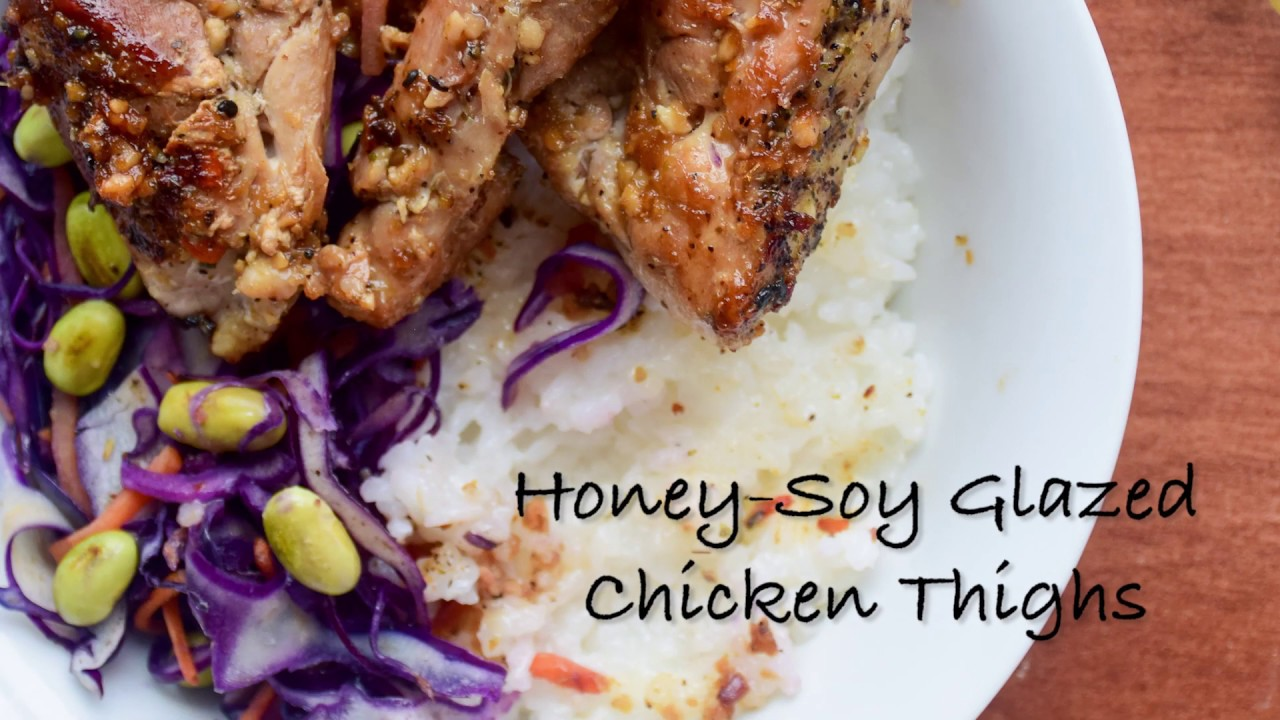 Cooking Vlog: Following a Goodfood recipe || Honey-Soy Glazed Chicken Thighs || 中文talking - YouTube