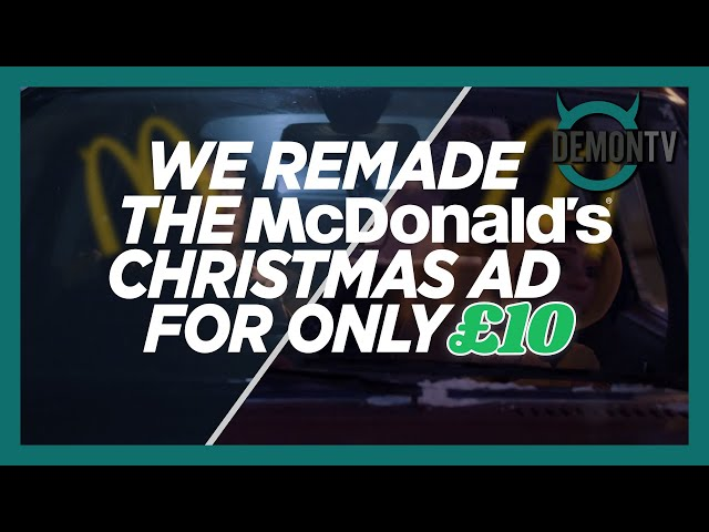 We Remade The McDonald's #ReindeerReady Christmas Ad for £10?