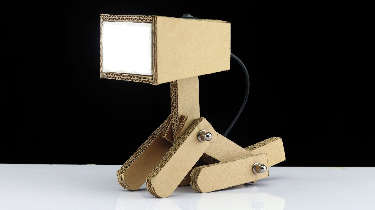 Study Table Light How To Make Usb Powered Cardboard Study Table Lamp Back To School Project