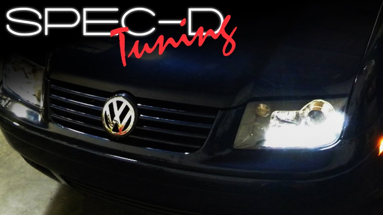 maxresdefault specdtuning installation video 1999 2004 vw jetta r8 projector head