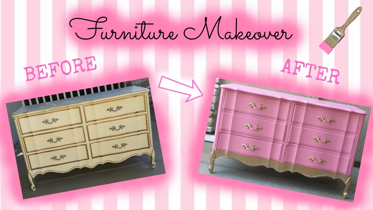 Ep 2 Just A And Her Paintbrush Furniture Makeover French Provincial Dresser