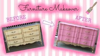 Ep. 2 - Just A Girl And Her Paintbrush: Furniture Makeover French Provincial Dresser