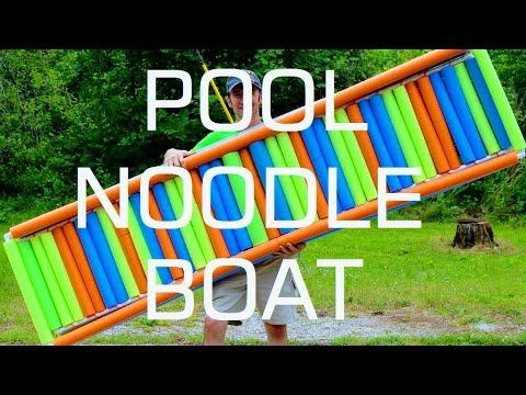Building A Pool Noodle Boat With PVC Pipe Frame