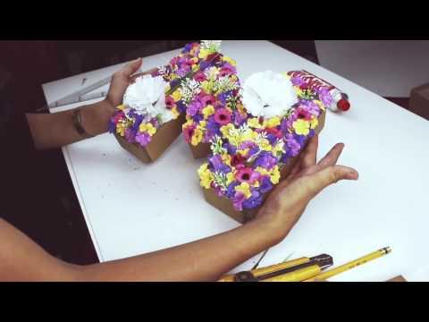 DIY ¡Letras decorativas con flores!
