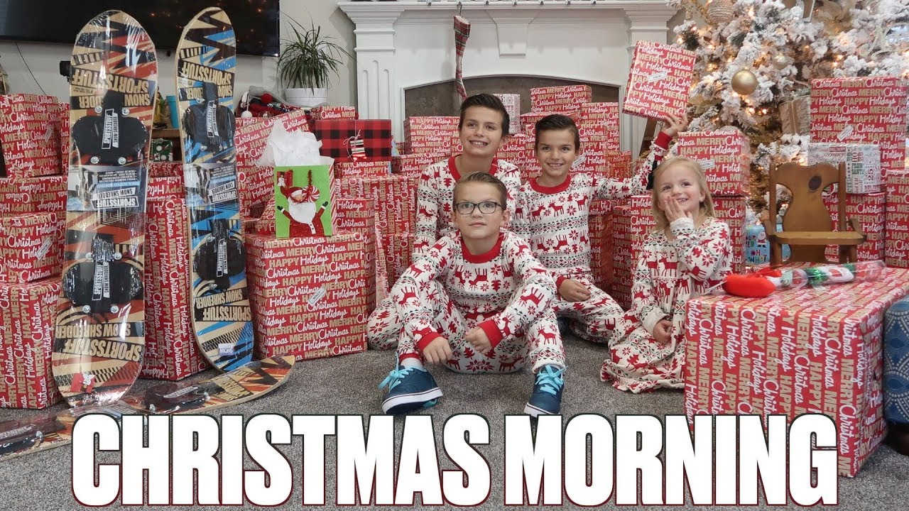 Crazy Christmas Morning Opening Christmas Gifts And