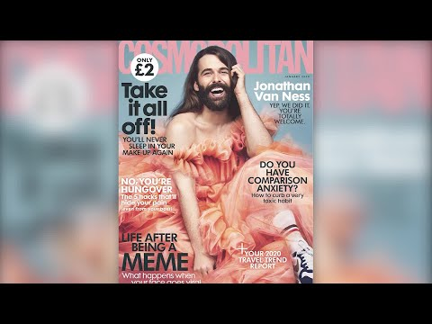 """Queer Eye"" star Jonathan Van Ness makes history with Cosmo cover"