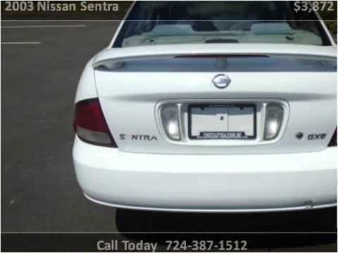 2003 Nissan Sentra Used Cars Murrysville PA - YouTube