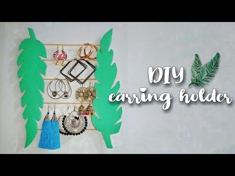 Earring holder | DIY Earring holder | How to make earring holder