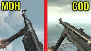 Call of Duty World At War vs Medal of Honor Airborne Gun Sounds