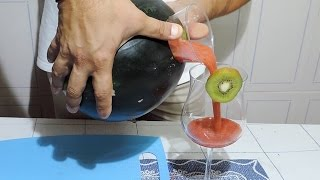 How You Make A Watermelon Juice In 2 Minutes - J.pereira Art Carving Fruits
