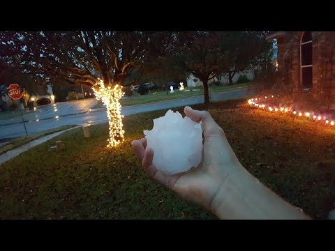 First snowball thrown in Texas! 2017 (Snowing in Austin, Texas!)