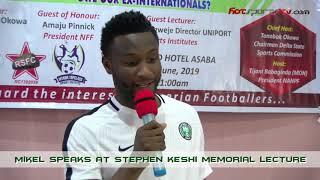 Mikel Speaks at Stephen Keshi Memorial Lecture