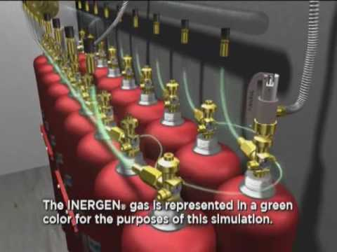 Inergen Fire Suppression System Simulation Youtube