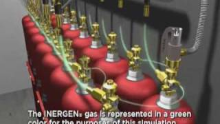 Inergen Fire Suppression System Simulation