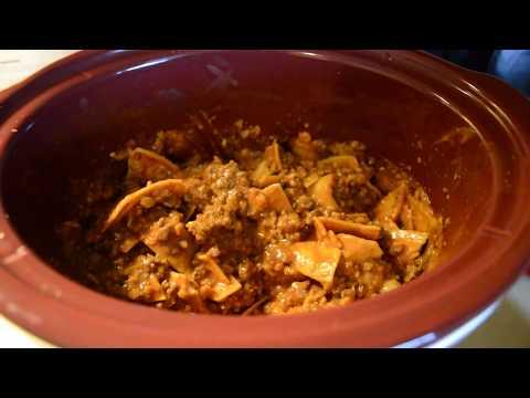 6 Ingredient Crockpot Enchilada Casserole / Cook With Me / SAHM