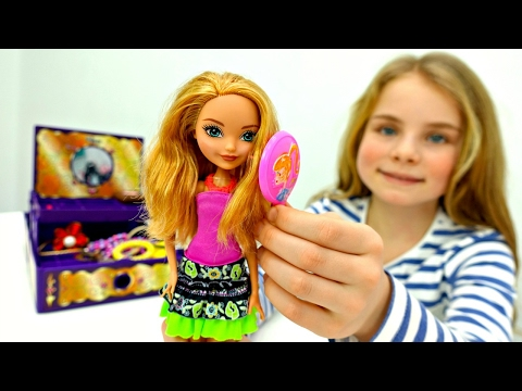 Куклы Эвер Афтер Хай: Эшлин Элла ❤️️ на показе мод 👗 #Одевалки / Видео для Девочек Ever After High